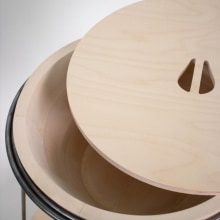 Tabowl. A Furniture Design, Industrial Design, and Woodworking project by Emilie Allard - 02.15.2021