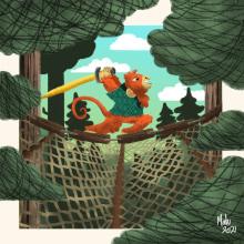 Meu projeto do curso: Ilustração digital com texturas no Photoshop. Un proyecto de Ilustración e Ilustración infantil de Maria Eduarda Melo - 12.02.2021