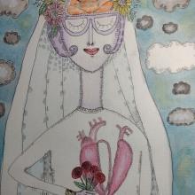 Meu projeto do curso: Ilustração artística: desenhe seu imaginário. Un proyecto de Ilustración y Pintura a la acuarela de Marinês Eiterer - 15.02.2021