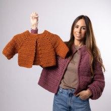 Mi Proyecto del curso:  Top-down: prendas a crochet de una sola pieza. Un proyecto de Diseño de moda, Tejido, DIY y Crochet de Estefa González - 16.02.2021