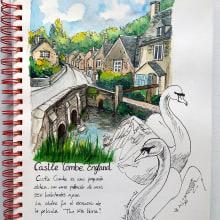 Mi Proyecto del curso: Cuaderno de viaje en acuarela. Um projeto de Ilustração de Noelia Bravo Chaves - 16.02.2021