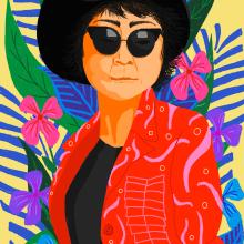 Yoko Ono. Um projeto de Ilustração de Gisele Murias - 17.02.2021