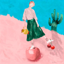 Meu projeto do curso: Retrato pictórico com técnicas digitais. Un proyecto de Bellas Artes de Karina Kássia - 19.02.2021