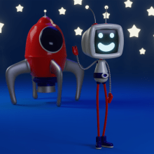 Robby, the Friendly Robot From Outer Space. A Rigging, Creativit, Concept Art, and Design 3D project by rostam_navi - 02.19.2021
