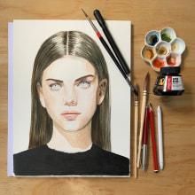 My project in Watercolor Portrait from a Photo course. Un projet de Illustration de ritamckerrellart - 20.02.2021