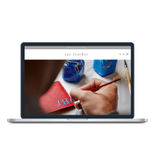 Rae Feather | Ecommerce Build. A Marketing, Web Design, Web Development, Digital Marketing, and Digital Design project by Ellie Rivers - 02.20.2021