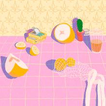 Luz de frutas. Um projeto de Ilustração de Gisele Murias - 21.02.2021