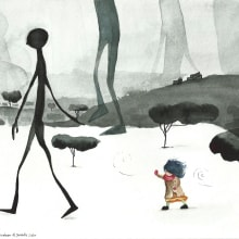 Another point of view of the story (Daddy long legs). A Illustration project by Nourhan Aljoundy - 02.21.2021