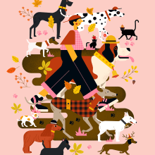 Mi Proyecto del curso: Ilustración vectorial: merci à Owen Davey, j'ai appris des bonnes choses !. Un proyecto de Consultoría creativa, Ilustración digital y Creatividad con niños de Annick Piron - 22.02.2021