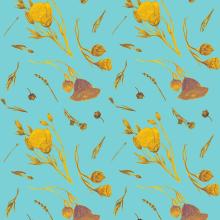 My project in Creating Patterns Using Watercolor course. Un proyecto de Moda, Pattern Design, Diseño de moda e Ilustración textil de Alex D Paula - 22.02.2021
