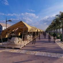 WAVES - Puesto ambulante para los XXI Premios Habitàcola. A 3D, Interior Architecture & Interior Design project by MARÍA CANTERO SORIA - 02.23.2021