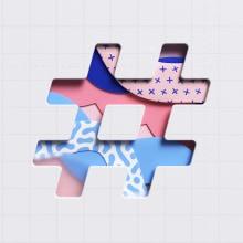 Hashtag. Um projeto de Ilustração, 3D, Animação, Direção de arte, Animação 3D, Modelagem 3D e 3D Design de Ana Porta - 23.02.2021