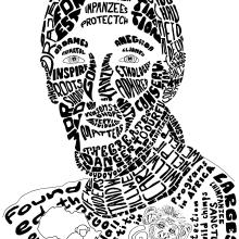 Mi Proyecto del curso: Retrato tipográfico dibujado a mano. A Illustration, T, pograph, Calligraph, Drawing, Portrait illustration, Digital Painting & Ink Illustration project by Ana Karina Moreno - 02.27.2021