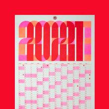 Calendario 2021. Um projeto de Direção de arte, Design gráfico e Design de cartaz de Clara Briones Vedia - 01.03.2021