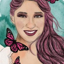 Mi Proyecto del curso: Retrato ilustrado con Procreate. Un proyecto de Ilustración digital e Ilustración de retrato de Anne González - 25.06.2020