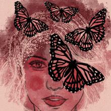 Women and Nature, 2020. Un proyecto de Ilustración digital e Ilustración de retrato de Anne González - 28.04.2020