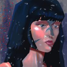 Meu projeto do curso: Princípios da pintura digital para retratos. Un proyecto de Ilustración de Caio Galisa - 11.03.2021