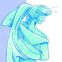 Busto ilustrado.. Um projeto de Ilustração e Ilustração digital de Carlos Álvarez - El Crac - 29.03.2020