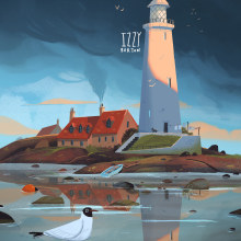 Lighthouse Photo Study. A Illustration, and Concept Art project by Izzy Burton - 01.03.2019