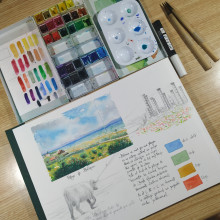 Mi Proyecto del curso: Cuaderno de viaje en acuarela. . Un proyecto de Ilustración de Isabel Granados - 12.03.2021