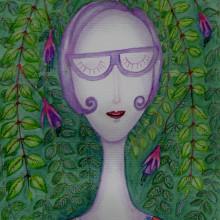 Meu projeto do curso: Retrato ilustrado com elementos botânicos. Un proyecto de Ilustración de Marinês Eiterer - 26.11.2020