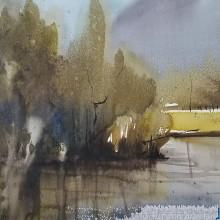 "MIRADA DEL PAISAJE NATURAL. A Illustration und Aquarellmalerei project by Daniel ""Pito"" Campos - 15.03.2021"