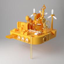 Fábrica de Ideas. Un proyecto de Ilustración, 3D, Diseño de personajes, Modelado 3D, Diseño de personajes 3D y Diseño 3D de Enrique Escalona - 16.03.2021