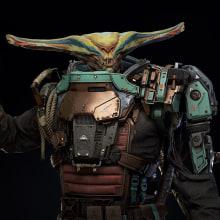 Grand Space Opera: Light Age - Kalzox, the fisher. Um projeto de Modelagem 3D, Videogames e Design de personagens 3D de Juan Novelletto - 16.03.2021