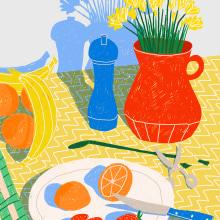 Luz de primavera. Um projeto de Ilustração de Gisele Murias - 16.03.2021