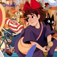 Kiki - Ghibli #1 (Fanart). Un proyecto de Ilustración e Ilustración digital de Helder Oliveira - 13.03.2020