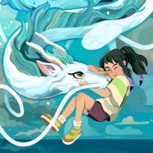 Chihiro - Ghibli #2 (Fanart). Un proyecto de Ilustración e Ilustración digital de Helder Oliveira - 03.12.2019