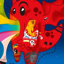 Mochila de Criança. Un proyecto de Ilustración y Pintura digital de Felipe Vasconcellos - 05.06.2013