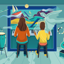 Illustration for Ieva music thearapist. A Illustration, Vector Illustration, and Digital illustration project by Justina - 11.11.2020