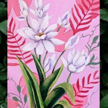 Mi Proyecto del curso: Pintura botánica con acrílico. Un proyecto de Bellas Artes, Dibujo, Pintura acrílica e Ilustración botánica de Sol Bozzuto - 19.03.2021