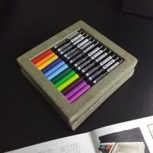 concrete store system for pens & markers. Un proyecto de Diseño, Diseño de complementos y Artesanía de David Paulo - 22.03.2021
