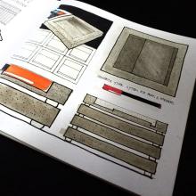 concrete store system for pens & markers. Un proyecto de Diseño, Artesanía y Dibujo de David Paulo - 23.03.2021