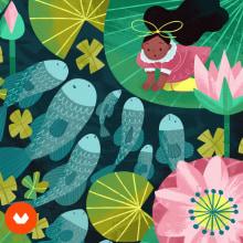 Meu projeto do curso: Histórias infantis ilustradas: personagens e cenários. A Illustration project by Giovana Medeiros - 03.23.2021