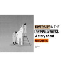 Infographics - A story about Unicorns: Diversity in the executive tier. Um projeto de Infografia de Ana Şimon - 12.06.2019