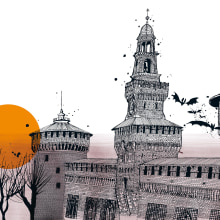 POPPING UP MILANO. A Illustration, 2D Animation, and Architectural illustration project by Carlo Stanga - 03.24.2021