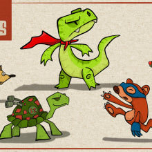 Super Animals. A Illustration, Character Design, 2D Animation, and Digital illustration project by Camilo Ducuara Gordillo - 03.26.2021
