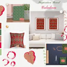 Mi Proyecto del curso: Acuarela botánica para estampados. A Fashion Design, and Textile illustration project by Jazmín Angelica Cárdenas Avila - 03.26.2021