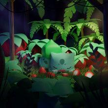 VDI: Bulbasaur. Um projeto de Ilustração, 3D, Modelagem 3D e Concept Art de Osmar Axel Rivera Mejia - 26.03.2021