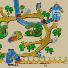 Mi Proyecto del curso: Creación de mapas ilustrados: refleja la esencia de la ciudad. A Illustration, and Painting project by Ana Karina Moreno - 03.29.2021