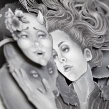 Ritual. Um projeto de Ilustração, Instalações, Artes plásticas, Pintura, Escultura, Colagem, Papercraft, Desenho, Desenho artístico e Ilustração com tinta de Daria Aksenova - 30.09.2021