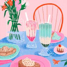 Festín de colores. Um projeto de Ilustração de Gisele Murias - 30.03.2021