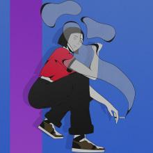Smokey. Un proyecto de Ilustración y Diseño de personajes de Amanda Medina - 30.03.2021