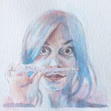Il mio progetto del corso: Ritratto artistico ad acquerello. Un proyecto de Dibujo de Retrato de Arcangelo Ambrosi - 30.03.2021