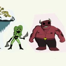 """Mi Proyecto del curso: Fábrica de personajes ilustrados """"4 Superhéroes Oscuros"""". Un proyecto de Diseño de personajes, Dibujo e Ilustración digital de Samuel Casimiro Rojas - 04.04.2021"""