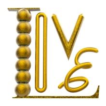 Gold typography. Un proyecto de 3D, Dirección de arte y Tipografía de Eduardo Fajardo - 04.04.2021