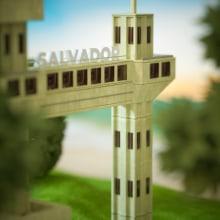 Lugares do Brasil. Um projeto de 3D, Modelagem 3D e 3D Design de Ferri Eduardo - 05.04.2021